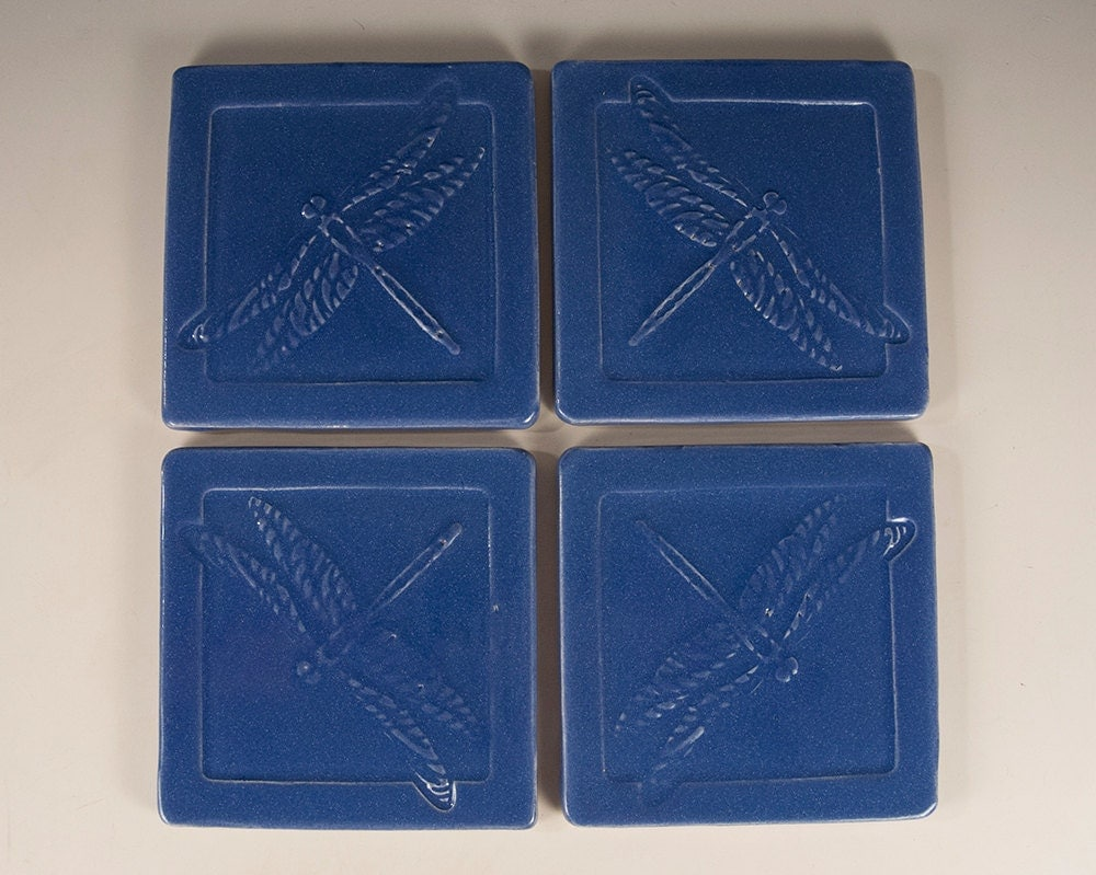 Arts and crafts mission prairie style tile coasters set of 4 for Arts and crafts tiles