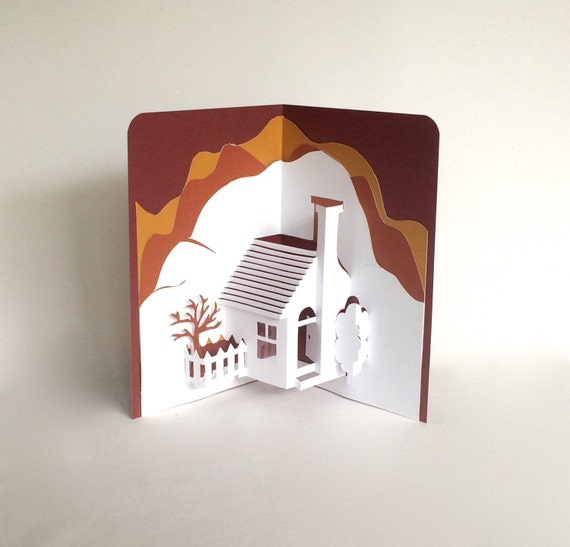 Home Pop Up 3d Card Home D Cor Origamic Architecture Handmade