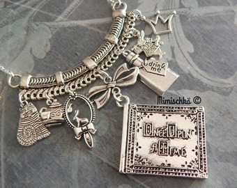 necklace  once upon a time alice in wonderland