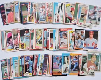 Philadelphia Phillies - Lot of 100 Assorted Vintage Baseball Cards