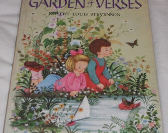 A Child's Garden of Verses  Illustrated by Gyo Fujikawa Vintage Hardcover book