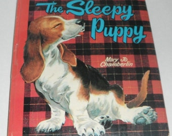 Whitman Pillow Book The Sleepy Puppy by Mary Jo Chamberlin Vintage