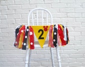 Mickey Mouse 2nd Birthday - Second Birthday banner - boy second birthday - mickey mouse party - mickey mouse - mickey mouse banner