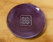 Celtic Knot Tea Bag Plate, Wheel Thrown, Food Safe, Dishwasher Safe