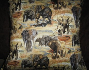 ELEPHANTS  Pillow  Cover LAST ONE