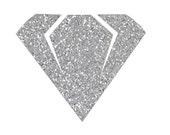 Diamond with and without Offset - Cut File - Instant Download - SVG Vector JPG for Cameo Silhouette Studio Software & other Cutter Machines
