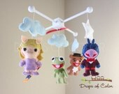 The Muppets, Baby Mobile, Baby Crib Mobile, Nursery Inspired by Disney The Muppets Mobile, Nursery Decor, Kermit the Frog, Miss Piggy, Gonzo