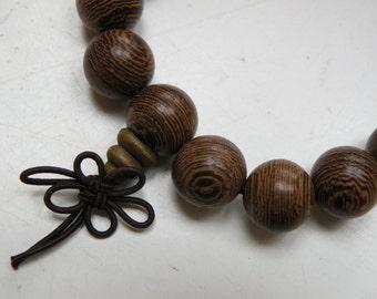 natural rosewood, pray mala bracelet