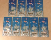 Lot of 9 Circular Metal Knitting Needles 43 cm Size 8, 9, 10, 11, 12, 13, 14, 15, 16 - Supplies, Knitting, Yarn Crafts