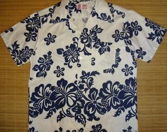 Mens Vintage 60s Garments Hawaii Floral Hawaiian Shirt - M - The Hana Shirt Co