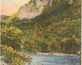 Echo Lake, Eagle Cliff, White Mountains, New Hampshire - Linen Postcard - Unused (CC)