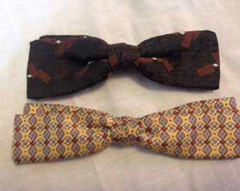 Collection of Vintage Clip On Bow Ties