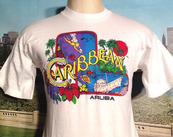 1970's-1980's Caribbean Aruba t-shirt, small
