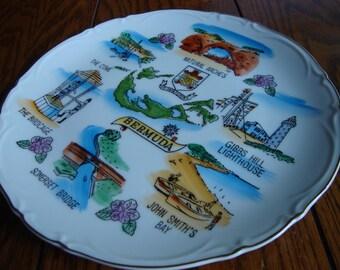 Bermuda Souvenir Plate Collectible Plates Vintage Keepsakes