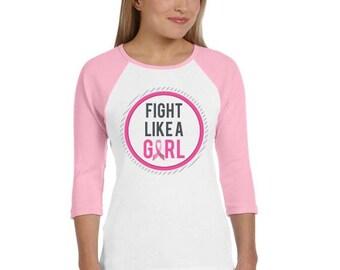 Breast Cancer Awareness Custom Raglan Shirt