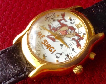 Tasmanian Devil watch vintage Armitron musical watch cartoon character watch