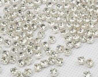 300 Pcs 3mm Sew on Glass Rhinestones.Tiny Glass Rhinestones