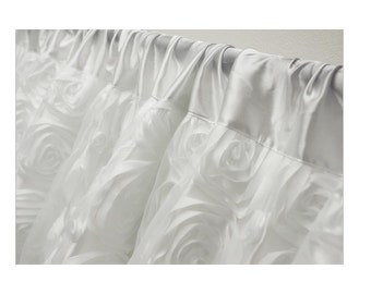 Large  Rosette Backdrop - 20' wide - White