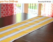 SALE Yellow Table Runner- Premier Prints Yellow Lulu Stripe - Choose Size- Wedding Reception Dinner Party, Event- Yellow Home Decor- Buffet