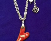 Valentine Gift Enameled Heart and Charity donation