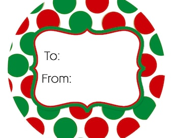 24 Merry Christmas Sticker Christmas Gift Tag Holiday Gift