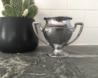 Vintage small silver trophy cup