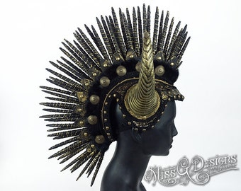 Horned Mohawk Headdress