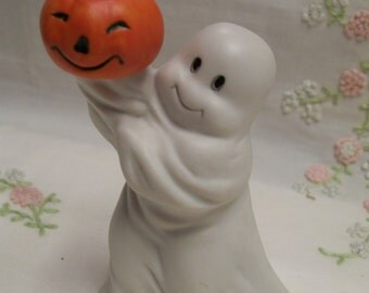 Halloween Ghost Candleholder Figurine Vintage Halloween Decor
