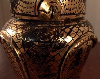 Beautiful gilt Egyptian funerary urn