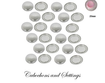 23mm Fabric Self Cover Button FLAT BACK 36L with variations - AUSTRALIA