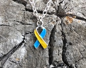 Canine Cushing's Awareness Ribbon Charm Necklace or Earrings
