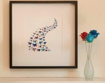 Red Bull Swoosh Large - Recycled Can Picture, Framed