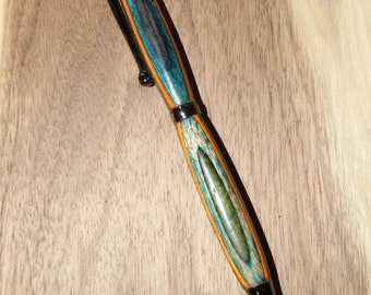 Handcrafted multi-colored Slimline Style Twist Pen