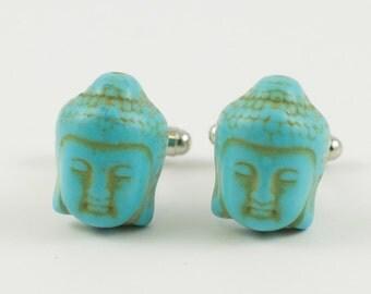 Turquoise Buddha Cufflinks