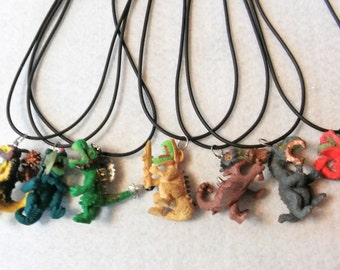 10 Warrior Dinosaur Necklaces Party Favors. Inspired Jurassic Park. Fast Shipping from USA,