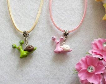 Snail Figurine Necklace