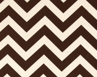 CLEARANCE! Fabric Yardage Chocolate Brown ZigZag Chevron Fabric - Premier Prints Fabric - Home Decor Fabric by the Yard