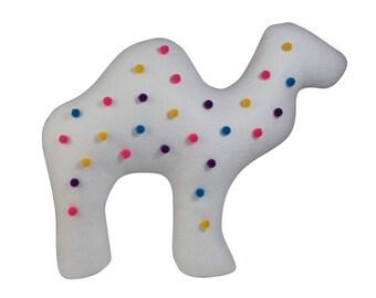 Circus Animal Cookie Pillow, Camel Pillow, Animal Throw Pillows, Decorative Felt Pillow, Camel Cushion, Decorative Animal Pillow, Home Decor