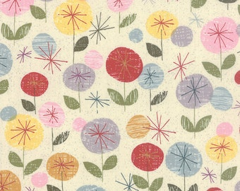 Colorful Floral Fabric - Mon Ami by Basicgrey from Moda - 1 Yard