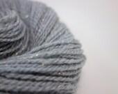 Handspun DK Yarn- Pale Blue Sparkly,  200m, 84g, Merino and Stellina, Winters Dawn 1