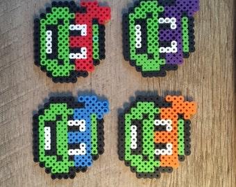Teenage Mutant Ninja Turtles Fuser Perler Beads Keychain Lanyard Ornament Magnets