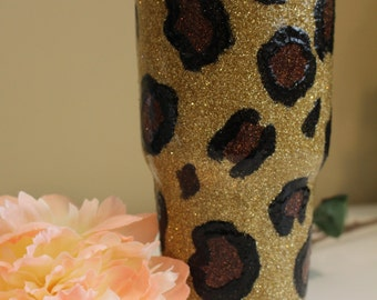 Leopard Glitter 30 YETI Rambler