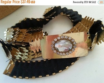 Now On Sale Vintage Heavy Gold Metal Belt Old Hollywood Glam Retro Rockabilly Accessories