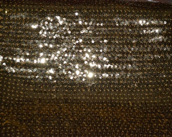 Gold  Sequin Springweave Fabric