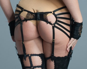 Belt garter mature movie pantie