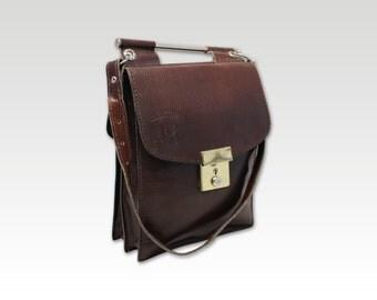 Vintage Brown Leather Shoulder, Saddle Bag, Messenger