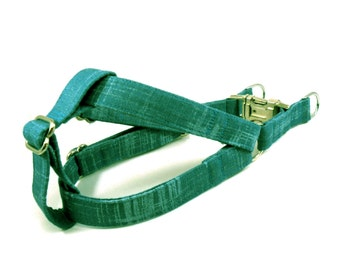 Teal Green Dog Step in Harness