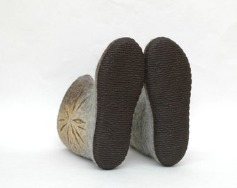 Rubber soles for felted shoes - Soles for felt slippers - Caoutchouc rubber - Black brown beige - for handmade shoes