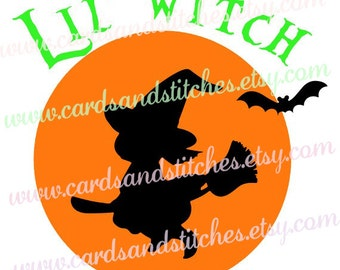 Halloween SVG - Halloween Witch SVG - Digital Cutting File - Graphic Design - Vector File - Instant Download - Svg, Dxf, Jpg, Eps, Png