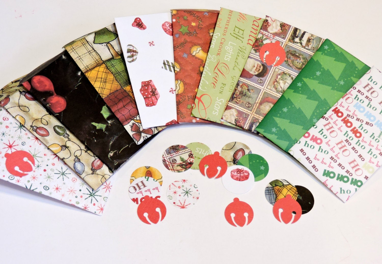 christmas gift card holder envelopes holiday red